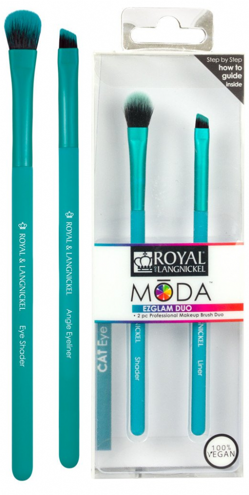 Royal Langnickel Moda EZGLAM DUO Cat Eye Brush